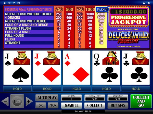free online video poker games no download