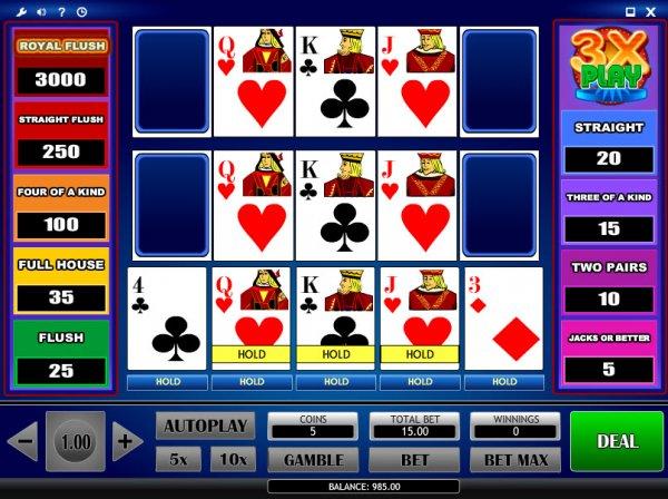 Video poker rtp
