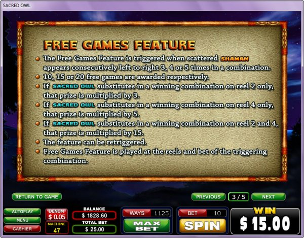 Spiele Sacred Owl - Video Slots Online