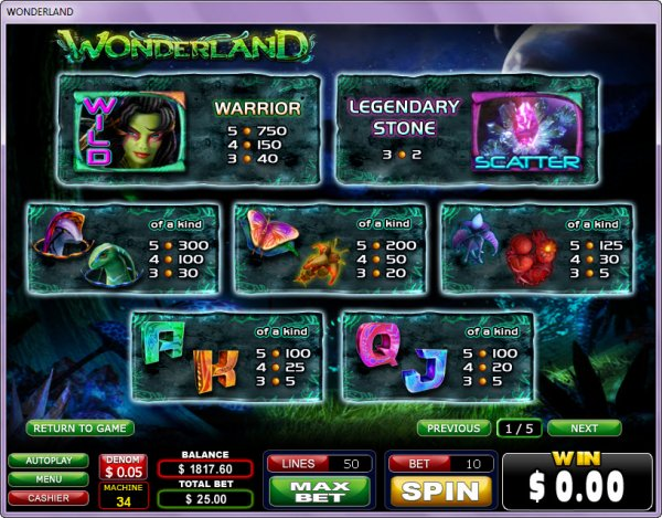 Wilburs Wild Wonderland Slots - Play this Video Slot Online