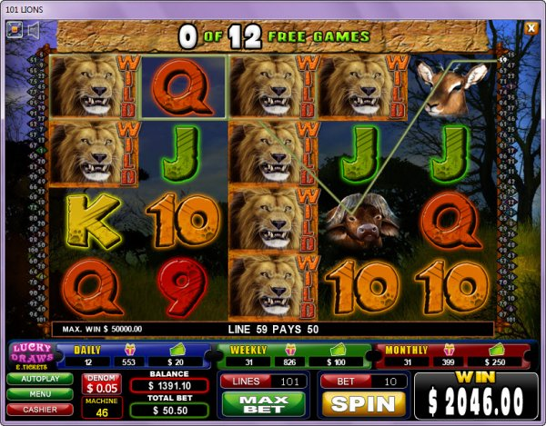 Spiele 101 Lions - Video Slots Online