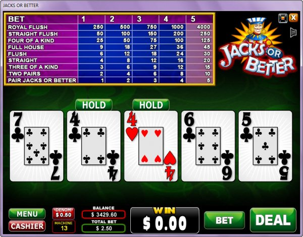 Play Jacks or Better Video Poker at Casino.com New Zealand