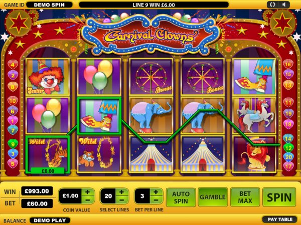 Casino game clowning around horseshoe casino council bluff iowa