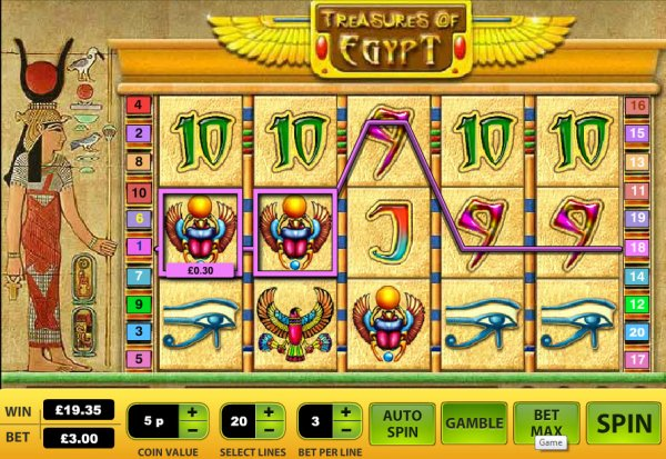 free slot machine treasure of egypt