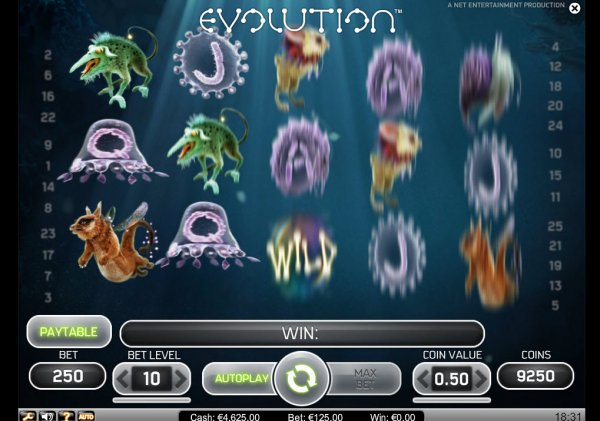 Evolution - gratis video slot online