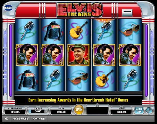 Elvis the King Slots Game