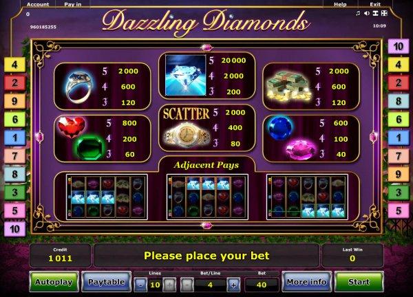 Spiele Dazzling Diamonds - Video Slots Online