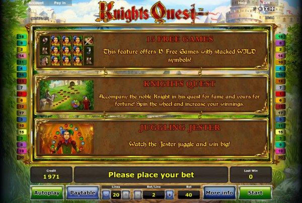 online slots bonus spiel quest