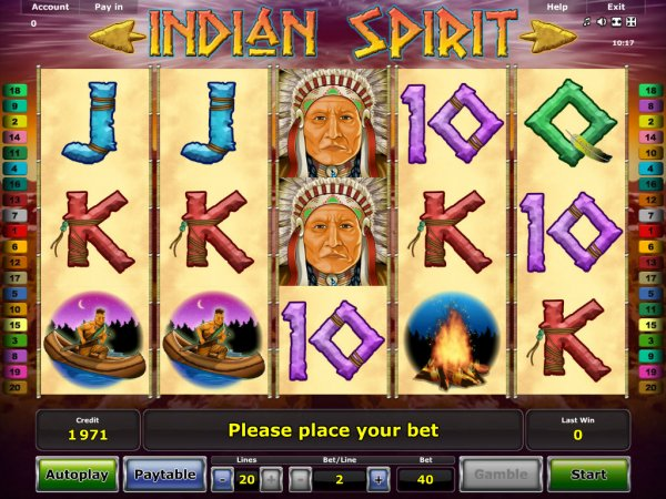 free online slots games indian spirit