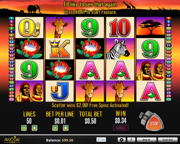 50 lions slot machine game