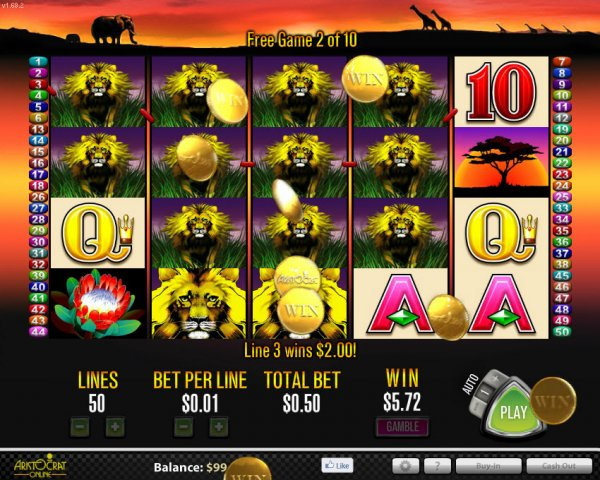 50 lions slot machine appraisals