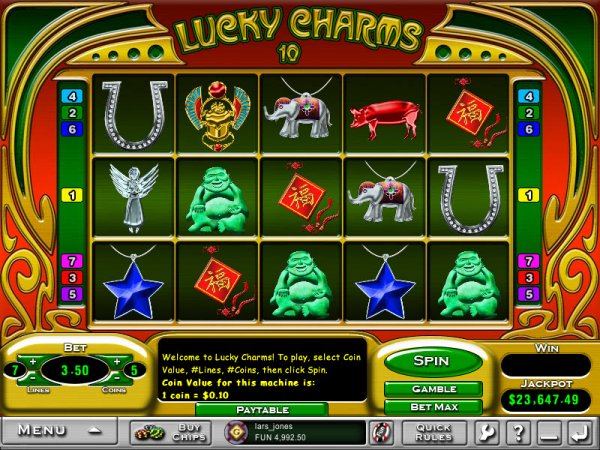 casino online games lucky charm book