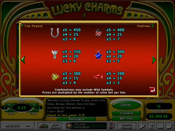online casino strategy lucky charm book