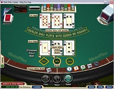 Real money 3 card poker gambling bella vegas casino free spins