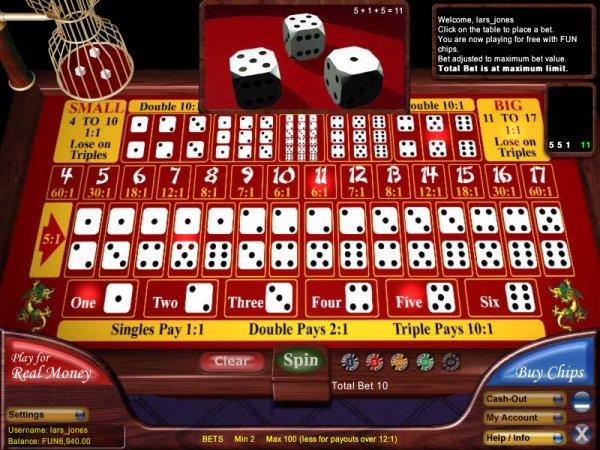 Sic bo online casino games