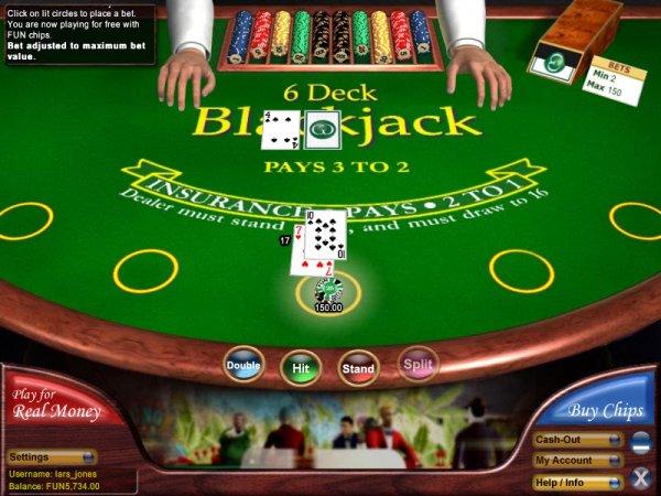 6-Deck Blackjack Game Play