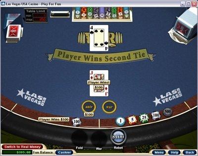 Las Vegas Online brings you Casino War
