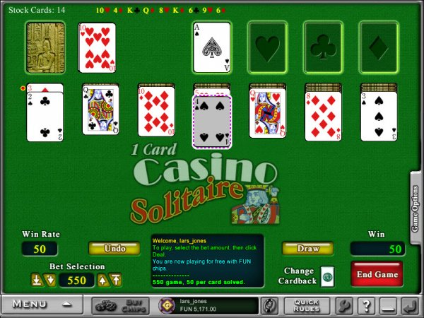 Solitaire casino game manadaly bay casino and hotel
