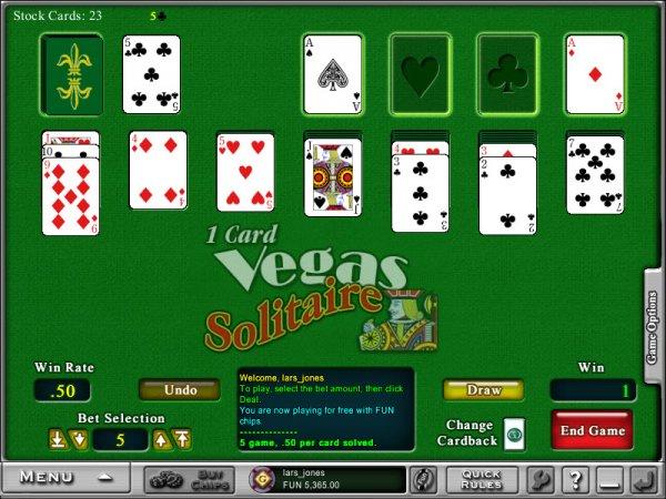 1 Card Vegas Solitaire