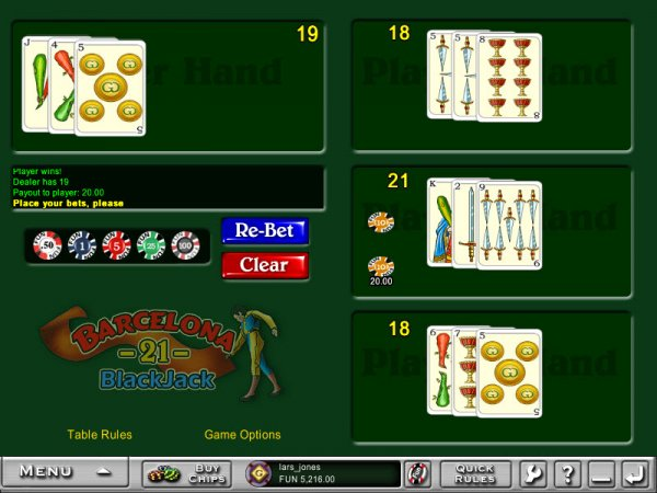 Blackjack barcelona