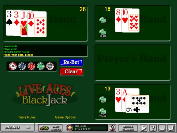 blackjack double aces