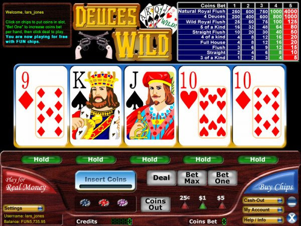 Play deuces wild video poker free ordre des meilleur main au poker