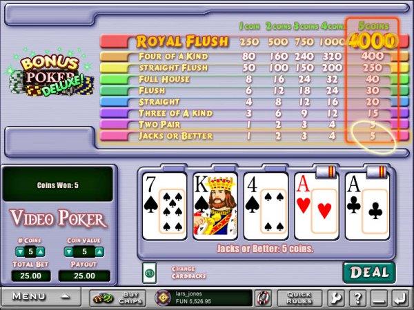online casino video poker deluxe spiele