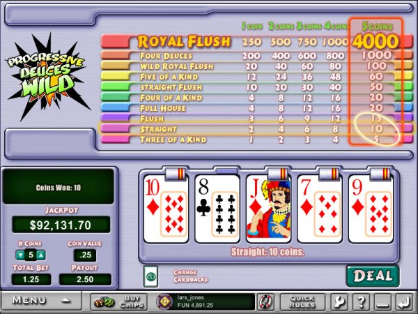 Juega Deuces Wild Video Poker Online en Casino.com Argentina