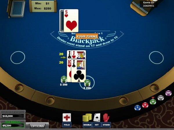 online casino black jack casin0 game