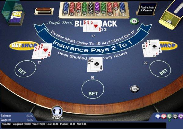 Blackjack ramp