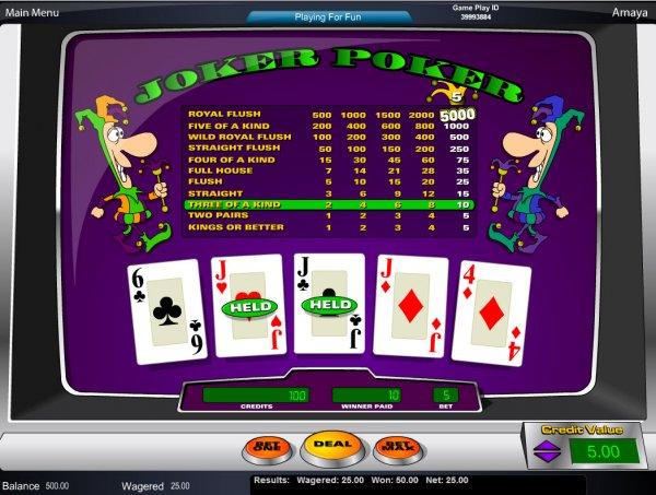 online casino websites joker poker