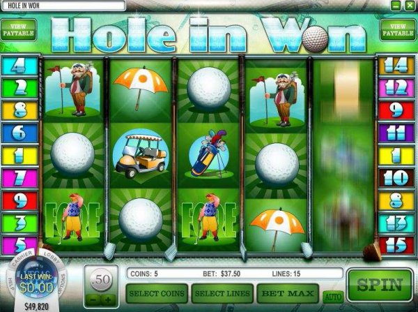 Hole in One slot - spil gratis golf slots online
