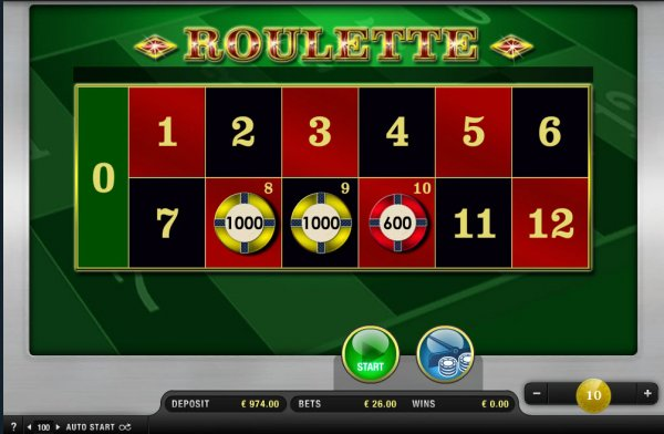 Green roulette payout