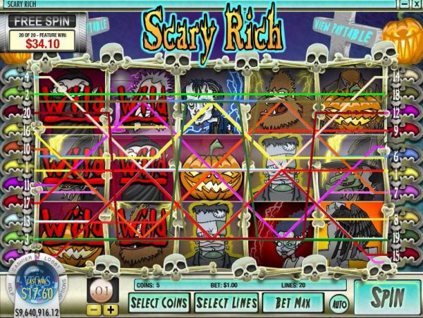 Scary Rich Slots - Free Online Casino Game by Rival Gaming