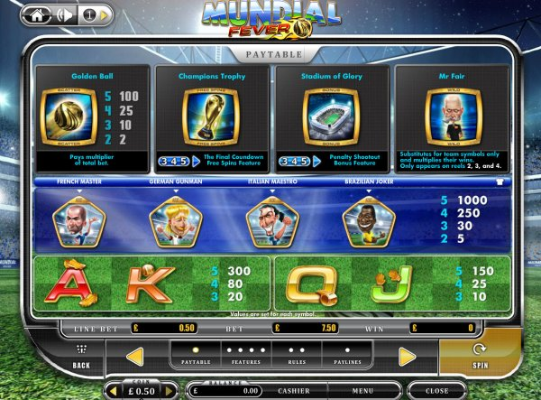 Mundial Fever Slot - Play Online for Free Money