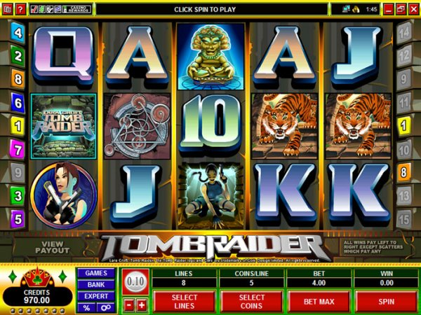 all slots casino tomb raider