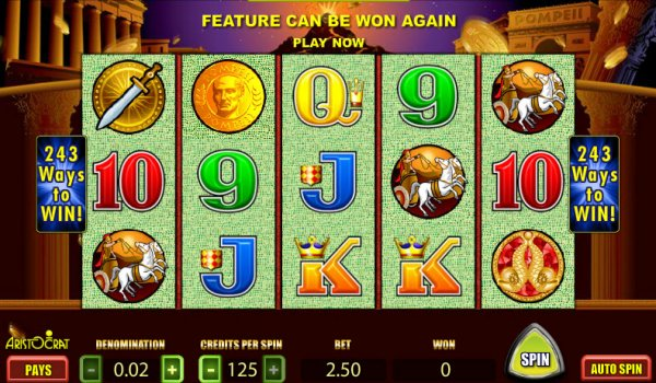 Pompeii Slots Reel Game