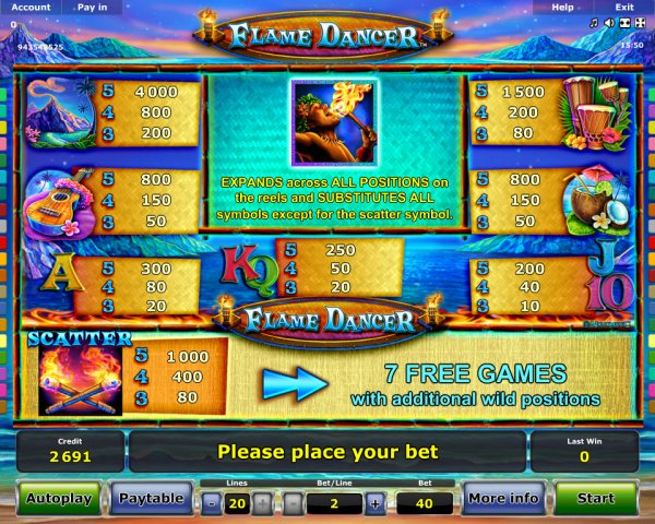 Flame Dancer _ Rizk Online Casino