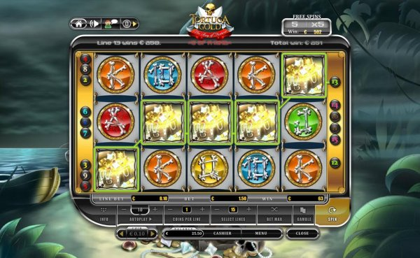 Tortuga Gold - The Bay of Fortune Slots - Play for Free Now