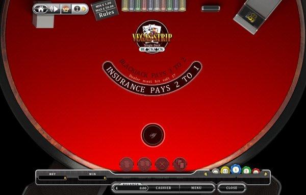 Where is single deck blackjack in vegas