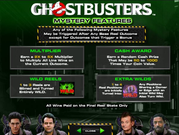 Ghostbusters Slots Features