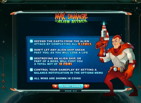 Max Damage and the Alien Attack Rules