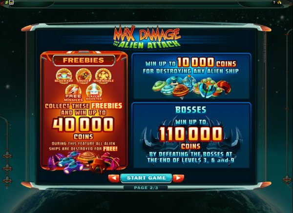 Max Damage and the Alien Attack Features