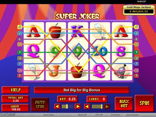 Super Joker Progressive Slots Reels