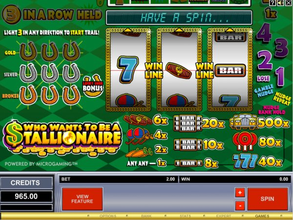 Who Wants to be a Stallionaire Slots - Play it Now for Free