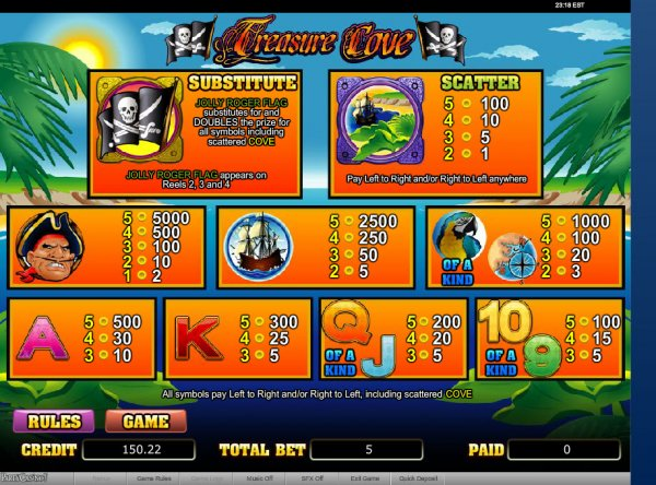 Treasure Cove Slot™ Slot Machine Game to Play Free in WGSs Online Casinos