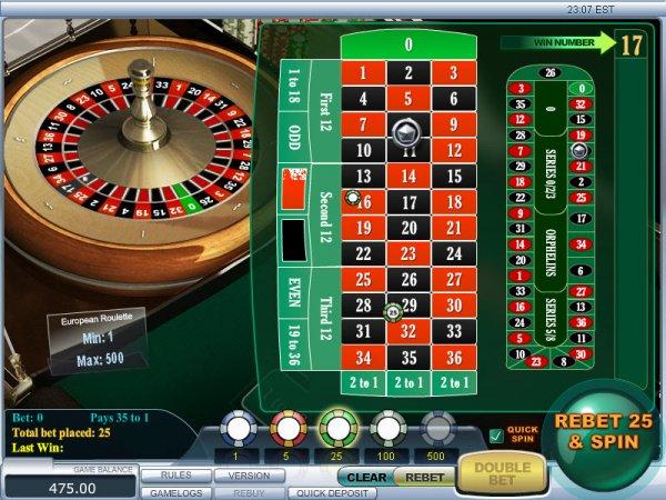 Roulette wheel random