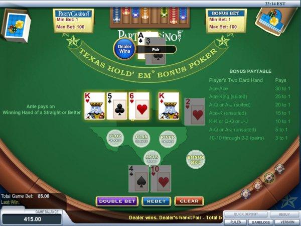 rivers casino texas holdem