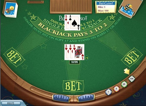 online casino single deck blackjack