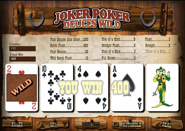 Jokers Wild Video Poker
